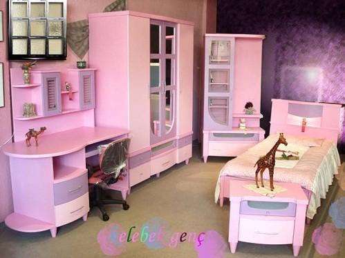 Mor renkli çocuk odası takımı