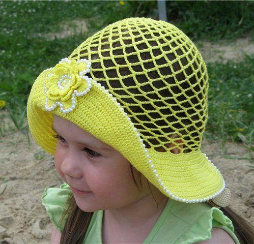 Вязание летние шляпки для девочек 97