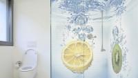 Dekoratif banyo sticker modelleri
