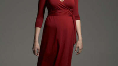 Hamile kadın abiye elbise modeli
