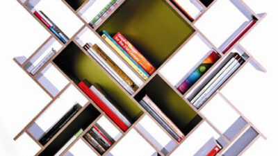 Dekoratif Ahşap Kitaplık Modelleri