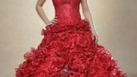 2011 Kırmızı Gelinlik Modelleri