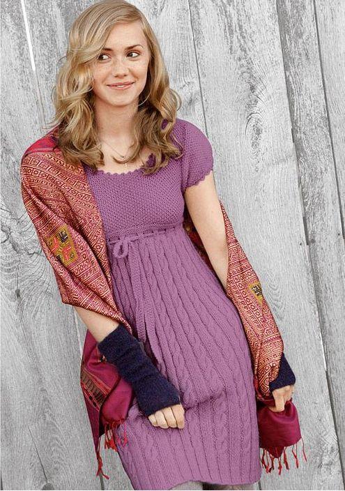 Вязаное вечернее платье - Вязание спицами и крючком. . Суббота, 11 Января 2014 г. 20:34 (ссылка) Пятница
