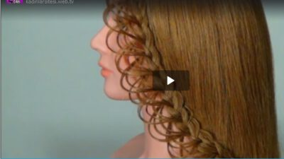 Uzun Saçlar İçin Dantel Saç Örgüler