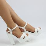 beyaz topuklu bantlı kadın ayakkabısı satın al ucuz