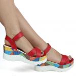 bilekten tokalı dolgu topuklu bayan ayakkabı yazlık satın al