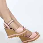 dolgu topuklu pembe bayan yazlık ayakkabı modelleri 2016