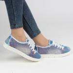 farklı şık kot bayan spor ayakkabı
