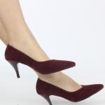 süet bordo topuklu bayan ayakkabı modelleri satın al