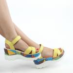 sarı bayan sandalet modelleri