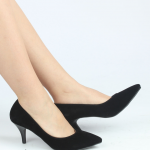 siyah süet topuklu kadın ayakkabısı satın al